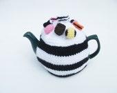 Tea cosy liquorice allsorts  black/white striped UK seller