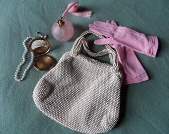 Vintage 1960s beaded handbag imperfect