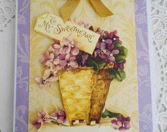 SALE  Vintage style Valentine's Card