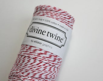 Cherry divine twine - Bakers Twine - Full Spool - 240 yards