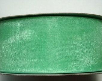 """1 1/2"""" Organza Ribbon -  Mint Green - 25 yard Spool"""