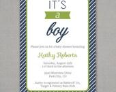 It's a Boy -- Baby Shower Invitation
