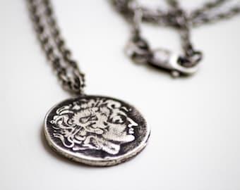 Alexander the Great Coin Pendant-Men's Pendant-Ancient Greek Replica Coin Pendant-Men's Jewelry-Unisex Gifts
