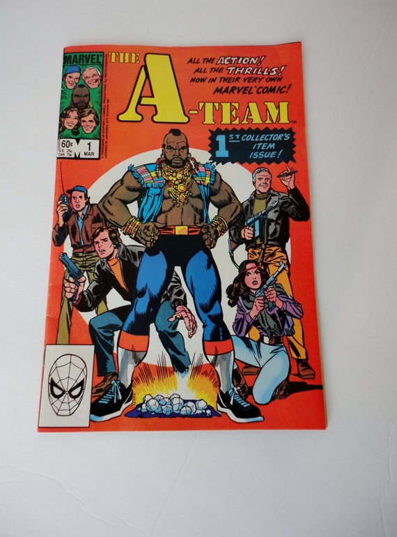 Vintage First issue, The A-Team Comic Book, Volume 1, Number 1, 1984