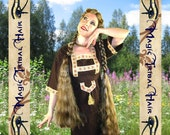 2 x MEDIEVAL BRAID EXTENSION 36''/90 cm C U S T O M color Game of Thrones wig Renaissance reenactment Tribal Fusion belly dance costume