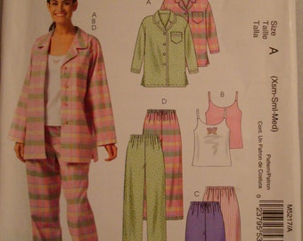 OOP McCall's Womens Sewing Pattern M5217 size XS - MED Uncut