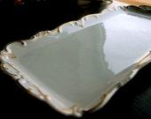 Traditional White Wedding Vintage Porcelain Serving Platter from Weimar Germany