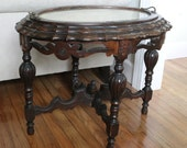 Vintage antique coffee table 1910s Victorian-style