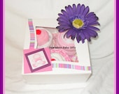 Baby Girl Onesie and Diaper Cupcake Gift Box-An Absolutely Perfect Baby Girl Gift-FREE SHIPPING