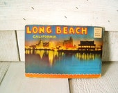 Vintage souvenir postcards Long Beach California Art Deco 1930s view folder