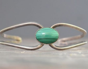 Vintage Native American Malachite Bracelet