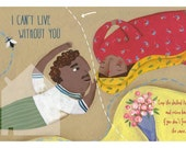 Valentine's printable card //I can't live without you // PDF file