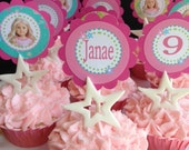 American girl doll birthday party cupcake toppers Printable YOU CHOOSE Doll