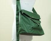 BAGGO in Wax Army Green Unisex Laptop / Shoulder Bag / Messenger Bag / Tote / Handbag / Hip / Purse / Wallet / Sling Bag / Hobo