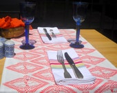TABLE RUNNERS Wings design,  printed in Blue on request