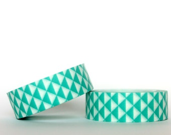 Teal Triangles Washi Tape