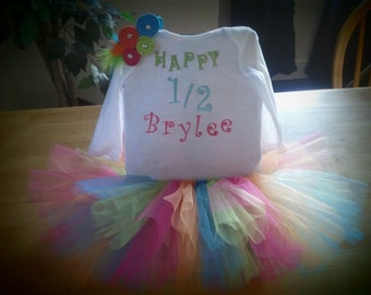 Customized Birthday or Announcement Tutu Outfit