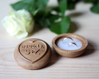 Wedding Ring Box, wedding ring box, Custom Ring Box,  Wood Ring Box, Ring Bearer Pillow Alternative, Oak Wood.