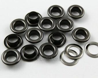 300Pcs 13mm Gunmetal Round Grommet Eyelet (GRG13)
