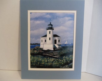 "Coquille River Lighthouse 8""x10"" Fine Art Print"