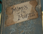 Beautiful Ornate Velvet Memory Book, Homes of Poets
