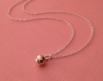 Tiny Bell Sterling Silver Necklace -Meditation Necklace