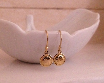 Tiny Gold Earrings -Tiny Gold Dot Earrings -Tiny Gold Drop Earrings