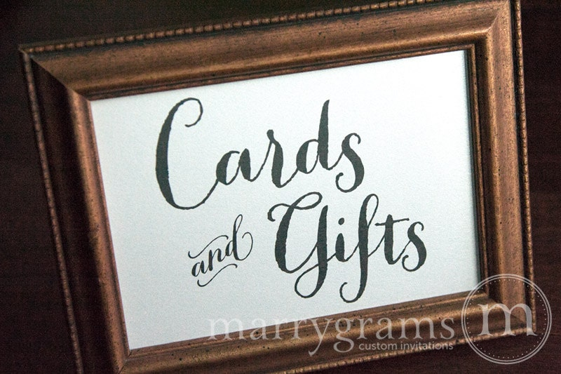 Wedding Gift Table Sign Wording : Cards and Gifts Table Sign Wedding Table Reception Seating