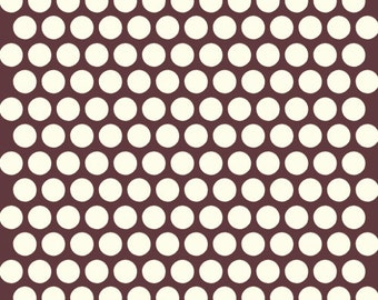 Organic Brown Polka Dot Fabric - Birch Dottie 1/2 Yard