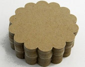 """Scalloped Circles 48 Die Cuts 2 3/8"""" - Handmade die cuts, tags, and paper crafting supplies by UniquesStashNStuff"""
