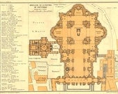 Saint Peter Basilica Architectural Floor Plan Vatican City  1933 Renaissance Architecture