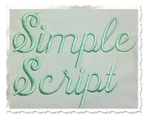 Simple Script Machine Embroidery Font Alphabet - 3 Sizes