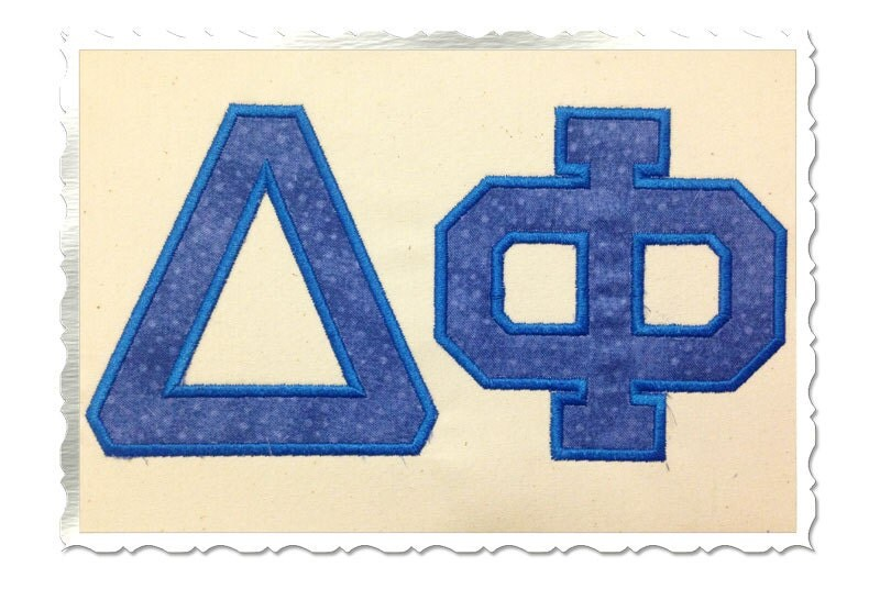 Greek varsity collegiate applique machine embroidery font