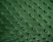 "Cabin Craft SHAMROCK GREEN POPS Vintage Chenille Bedspread Fabric  - 24"" X 24"""