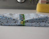 Reusable Cloth Baby Wipes, Set of 9 Polka Dot Wipes