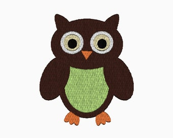 INSTANT DOWNLOAD Owl embroidery design