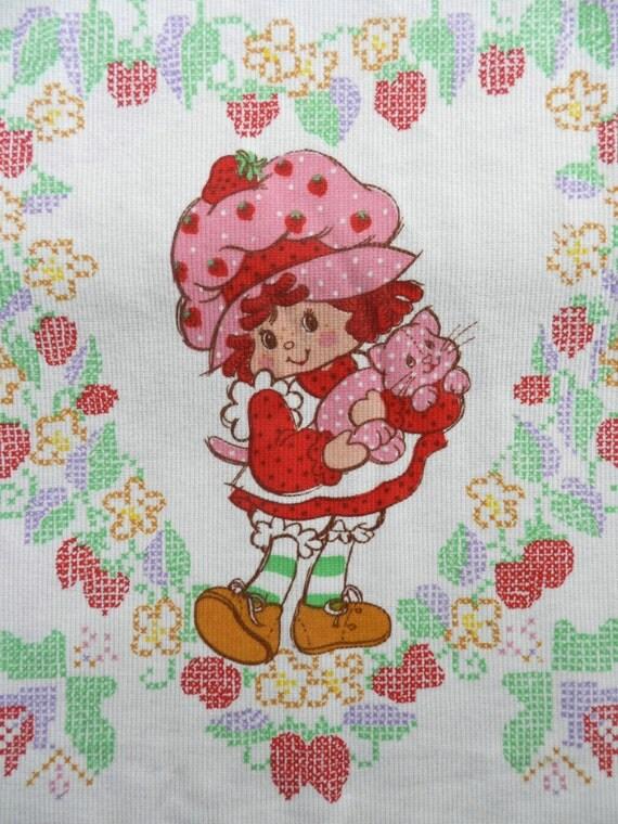Strawberry Shortcake Bedding Childs By Greysquirrelantiques