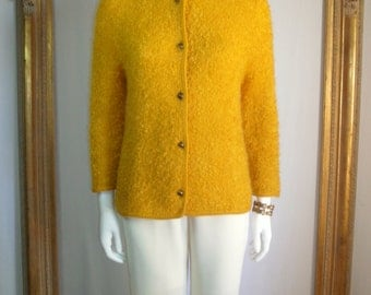 CLEARANCE Vintage 1970's Gold Sweater - Size 6