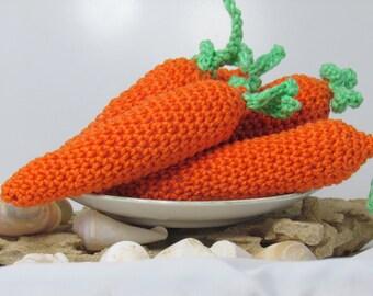 Crochet Carrot PDF Tutorial PATTERN, Amigurumi Play Food, DIY Knit Vegetable