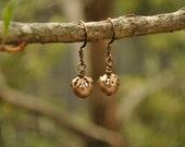 Pearl Drop Earrings - Coffee