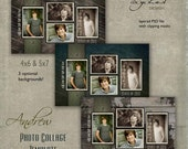 senior photo collage templates - photoshop templates for photographers by chicdigitaldesign