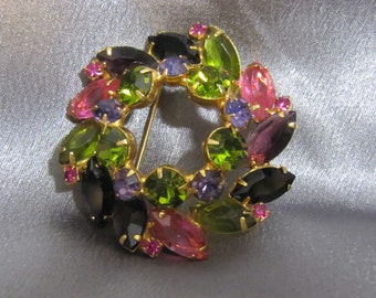 D & E Juliana and DeLizza stunning spring brooch
