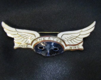 Extremely Rare American Theater Wing Breast Pin