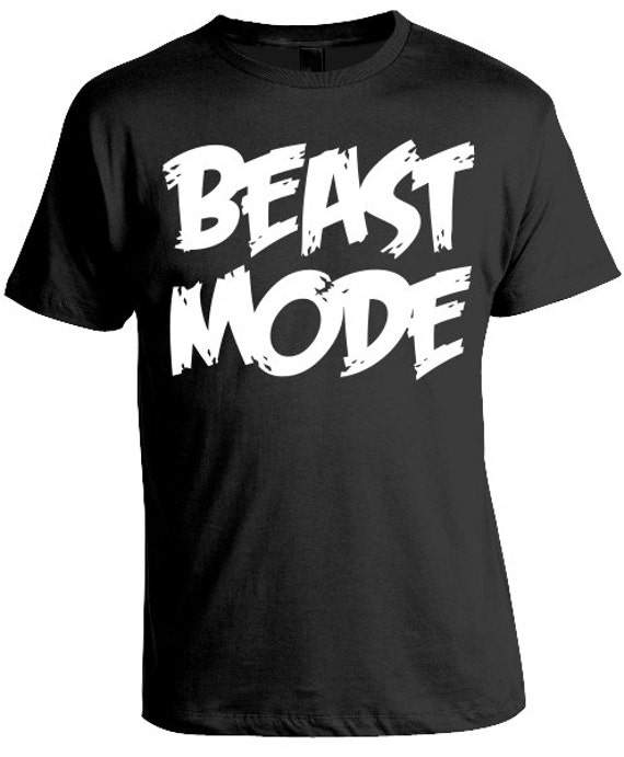 Beast mode men 39 s t shirt fitness workout shirt gym by for T shirts for gym workout