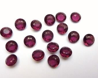 12 Glass jewels, around Ø8mm, purple