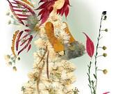 Fairy of  Understanding  - Original 8 x 10 Fine Art Print - Imagine Magick - Flower Fantasy Faery Art -