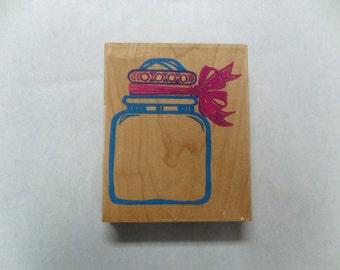 Destash Rubber Stamp, Jumbo Jar, Sale Candy Jar Stamp, Glass Jar Rubber Stamp, Large Jar, Large Jar Stamp, Mounted Candy Jar Stamp, Rubber