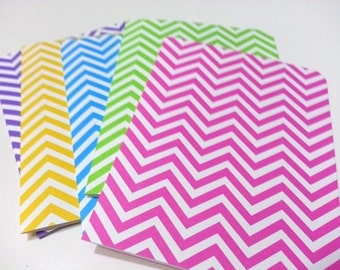 Chevron Cards, Blank Cards, Colorful Chevron Cards, Chevron Note Cards, Blank Cards with Envelope, Zigzag Design, Zigzag Card Pattern