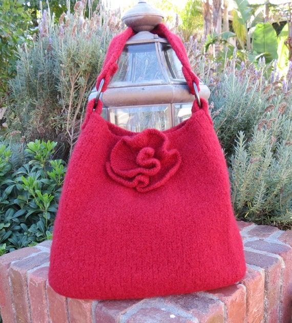 Felted Purse Knitting Patterns : Knit Bag Pattern Felted Purse Pattern Knit by DeborahOLearyPattern