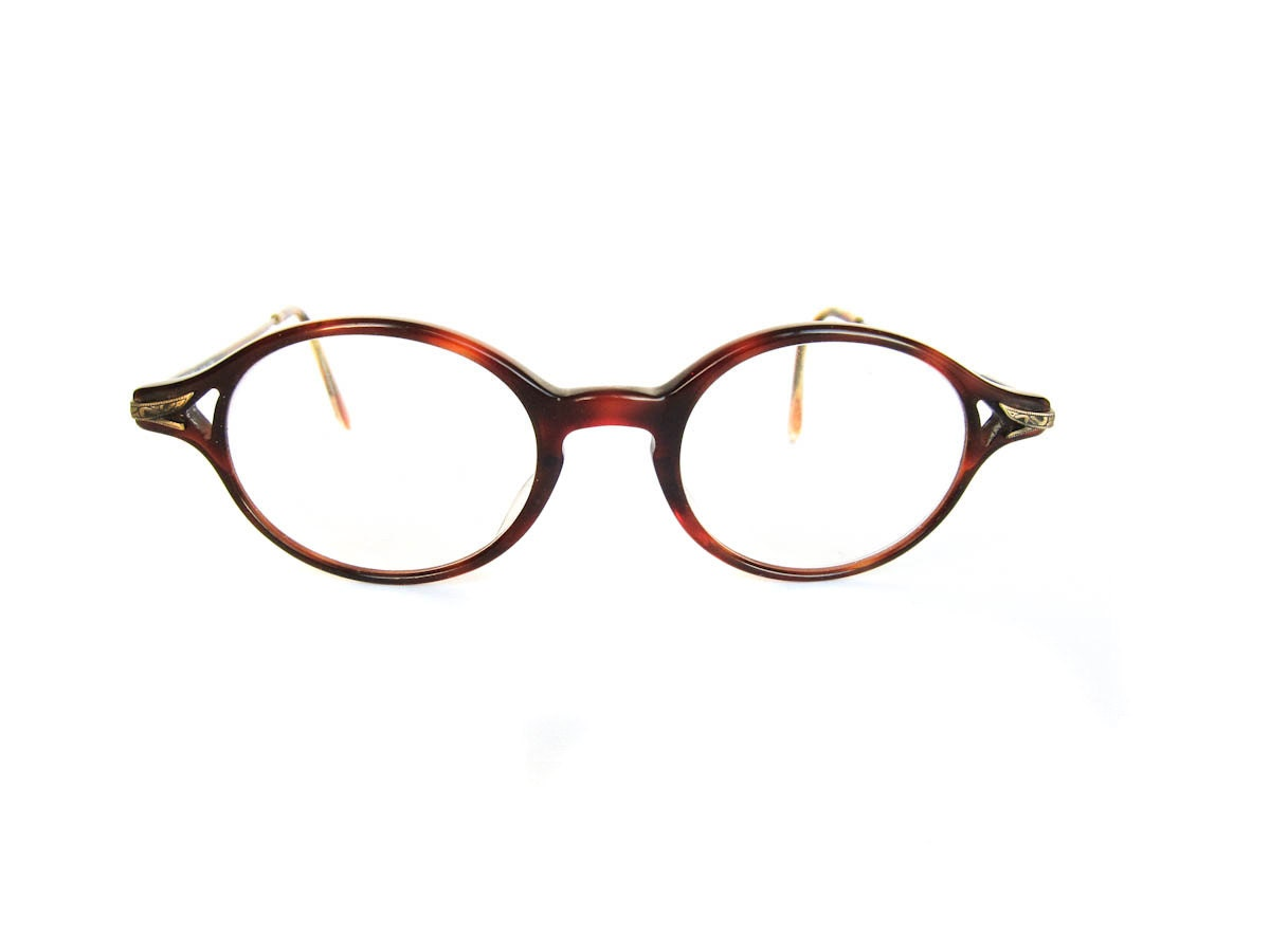 vintage eyeglasses brown tortoise shell by pastoria
